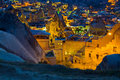 Landscape on GOREME Cappadocia Turkey. Royalty Free Stock Photo