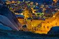 Landscape on GOREME Cappadocia Turkey. Royalty Free Stock Photo