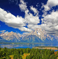 The landscape of Grand Teton National Park Stock Images