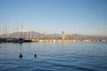 Landscape of the Harbor in Desenzano, Garda Lake Royalty Free Stock Photo