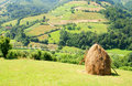 Landscape with haystack Royalty Free Stock Photography