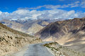 Landscape in himalayas the high altitude manali leh highway indian Stock Photo