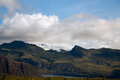 Landscape iceland on top of vatnajokull with a view Royalty Free Stock Photography