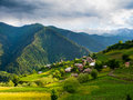 Landscape of ieli village in svaneti georgia Royalty Free Stock Image