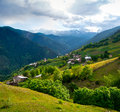 Landscape of ieli village in svaneti georgia Royalty Free Stock Photos