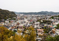 Landscape of kamakura town japan from top a mountain Stock Images