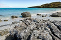 Landscape of karikari peninsula new zealand view rangiputa beach in northland it s a famous holiday travel destination in nz Royalty Free Stock Image