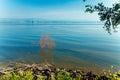 Landscape of kinneret lake galilee sea israel Stock Image