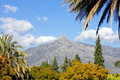 Landscape with La Concha mountain in Marbella Royalty Free Stock Photos