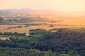 Landscape at lake balaton hungary in sunset Royalty Free Stock Photo