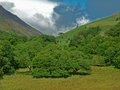 Landscape of lake district fells near Keswick, lakes district Royalty Free Stock Photo