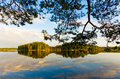 Landscape lake in finland karelia evening Stock Photography