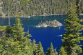 Landscape of Lake Tahoe in California Royalty Free Stock Image