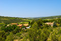 Landscape languedoc with vineyards in france Stock Image