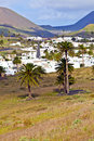 Landscape Lanzarote, Small town Haria Stock Photos