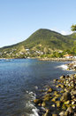 Landscape of les anses d arlet petite anse in martinique france grande Royalty Free Stock Photo