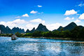 Landscape of li jiang lijiang river from guilin to yangshuo Royalty Free Stock Images