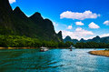 Landscape of li jiang lijiang river from guilin to yangshuo Stock Photo