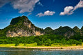 Landscape of li jiang river and mountains Royalty Free Stock Photography
