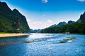 Landscape of li jiang river and mountains Stock Images