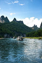 Landscape of li jiang river and mountains Royalty Free Stock Photos