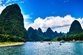 Landscape of li jiang river and mountains Stock Image