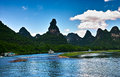 Landscape of li jiang river and mountains Stock Photography