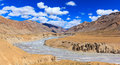 Landscape of Manali-Leh highway, Jammu & Kashmir, India Royalty Free Stock Photo