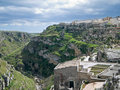 Landscape of Matera. Basilicata. Royalty Free Stock Photos