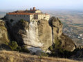 Landscape of  Meteora's monastery Royalty Free Stock Photo