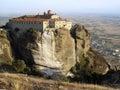 Landscape of  Meteora's monastery Royalty Free Stock Photo