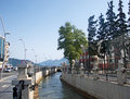 Landscape of modern part of Marmaris Downtown, Turkey Royalty Free Stock Photo