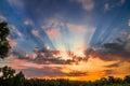 Landscape of morning sunrise Royalty Free Stock Photo