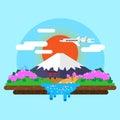 landscape of Mount Fuji Royalty Free Stock Photo