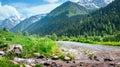 Landscape of mountain range in summer Stock Photos