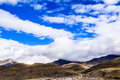 Landscape with mountain in the tibet Stock Photo