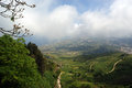 Landscape of a mountain valley. Sicily Royalty Free Stock Photography