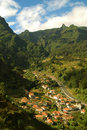 Landscape in the mountains of Madeira Royalty Free Stock Image