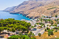 Landscape, mountains and sea at south side of Crete island Royalty Free Stock Photo