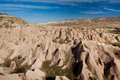 Landscape of natural rock forms cappadocia turkey Royalty Free Stock Photos