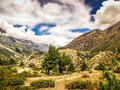 Trek in the Himalayan mountains of Nepal
