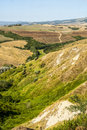 Landscape near volterra tuscany pisa italy at summer Royalty Free Stock Photo