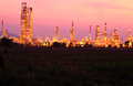 Landscape oil refinery Royalty Free Stock Images