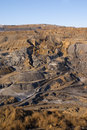 Landscape of an old coal mine Royalty Free Stock Images