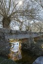 Old stone bridge over a river Royalty Free Stock Photo