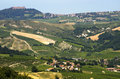 Landscape in the Oltrepo Pavese (Italy) Royalty Free Stock Photography