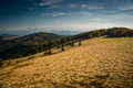 Landscape panoramic view of beskid mountains from the top of wielka racza poland Royalty Free Stock Photos