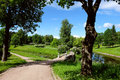 Landscape in Pavlovsk park, Russia