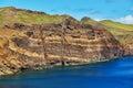 Landscape of Ponta de Sao Lourenco on the Eastern coast of Madeira island, Portugal Royalty Free Stock Photo