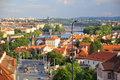 Landscape of Prague old town Stock Photo